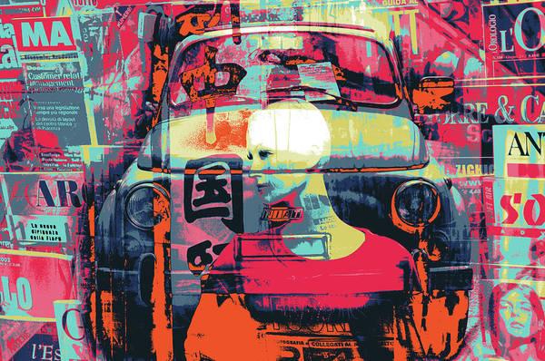 Alitalia Wall Art - Mixed Media - Fiat by Shay Culligan