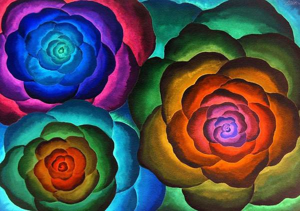 Wall Art - Painting - Fibonacci Flowers by Jennifer Baird