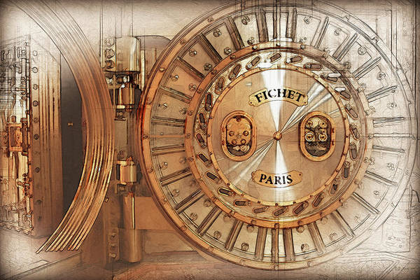 Digital Art - Fichet Bank Vault Door And Lock by Serge Averbukh