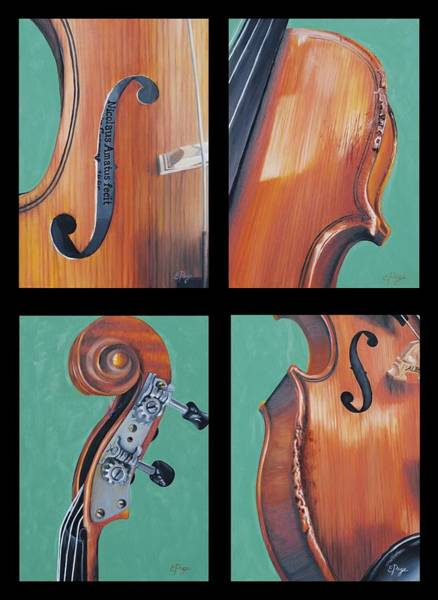 Painting - Fiddle Quartet by Emily Page