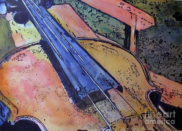 Painting - Fiddle by Sandy McIntire