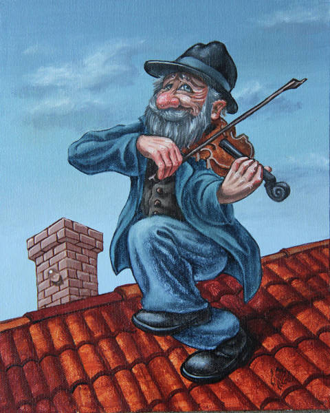 Painting - Fiddler On The Roof. Op.#2773 by Victor Molev