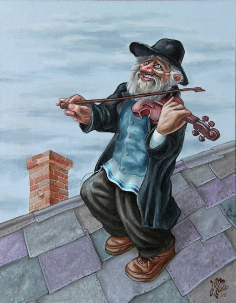 Painting - Fiddler On The Roof by Victor Molev