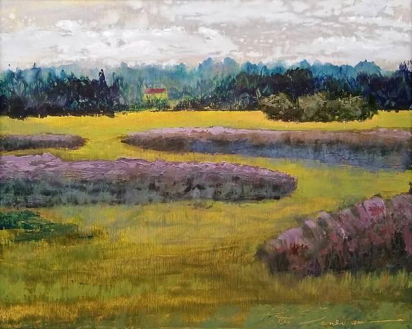 Painting - Fiddlers Ridge Marsh by Peter Senesac