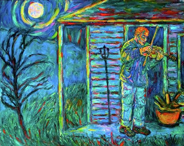 Painting - Fiddling At Midnight's Farm House by Kendall Kessler
