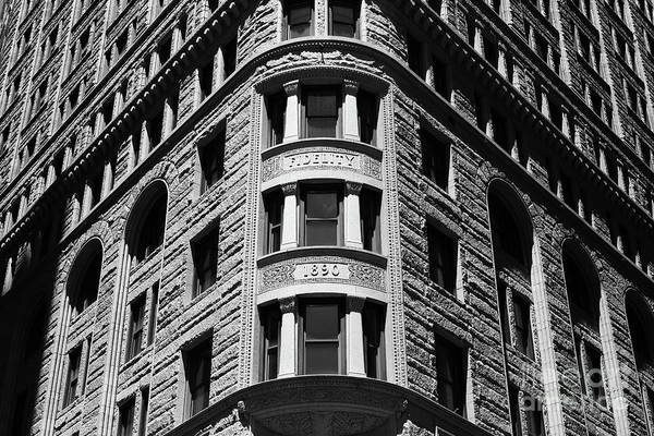 Photograph - Fidelity Building Detail Baltimore by James Brunker