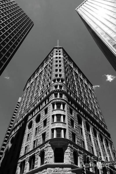 Photograph - Fidelity Building In Black And White Baltimore by James Brunker