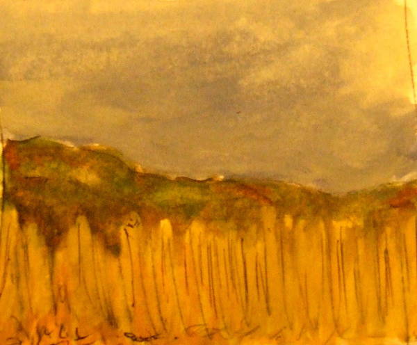James Johnson Painting - Field And Sky by James Johnson