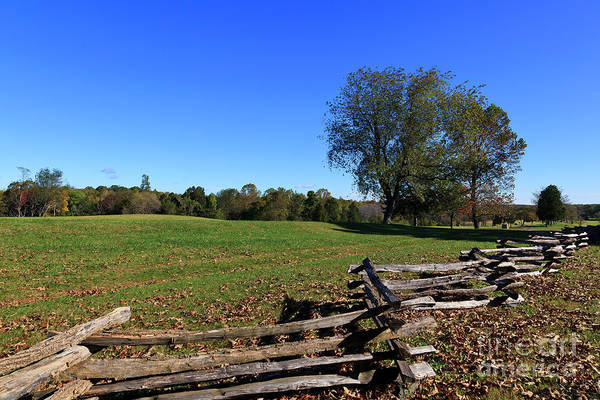 Photograph - Field And Split Rail Fence At Appomattox by Jill Lang