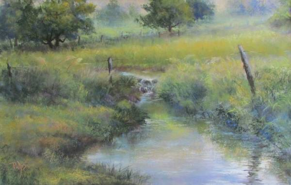 Pastel - Field And Stream by Bill Puglisi