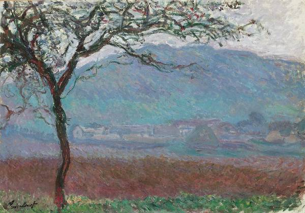 Painting -  Field Giverny by Claude Monet