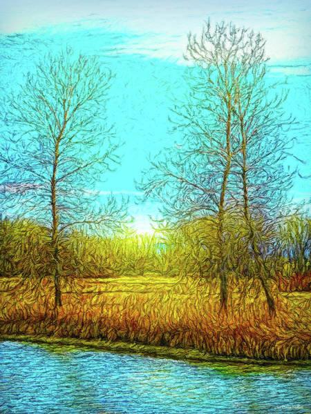 Digital Art - Field In Morning Light by Joel Bruce Wallach