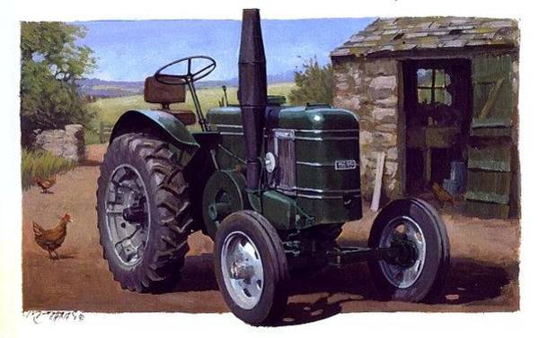 Vintage Tractor Painting - Field Marshall Tractor by Mike Jeffries