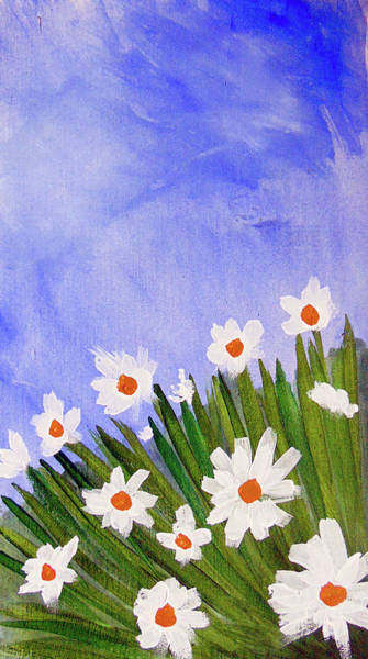 Painting - Field Of Daisies by Loretta Nash