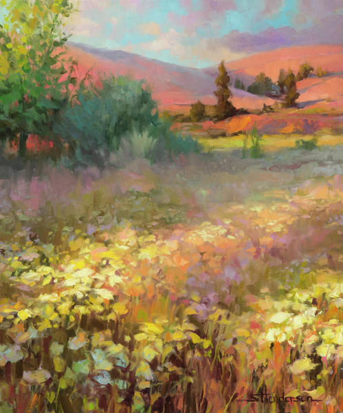 Field Of Flowers Wall Art - Painting - Field Of Dreams by Steve Henderson