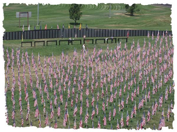 Field Of Flags - Gotg Arial Art Print