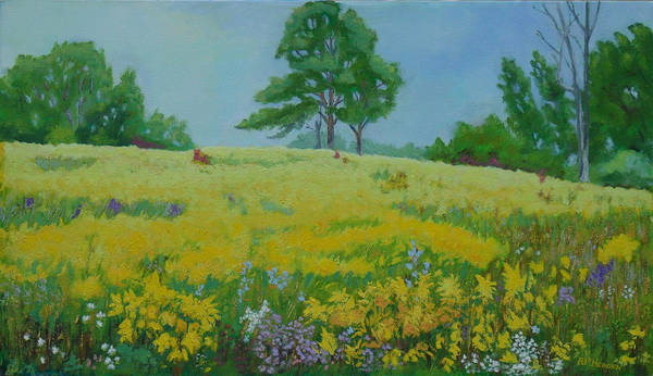 Gulf State Park Painting - Field Of Goldenrod by Robert P Hedden