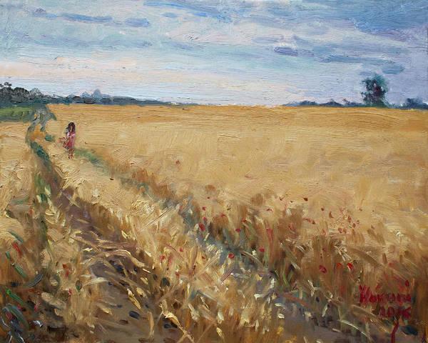Poppy Field Painting - Field Of Grain In Georgetown On by Ylli Haruni