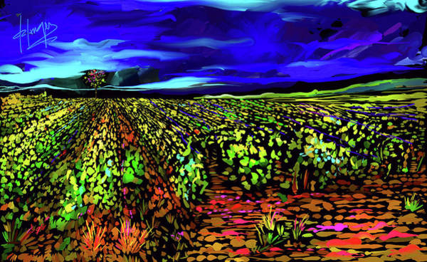 Painting - Field Of Grapes, Beaune, France by DC Langer