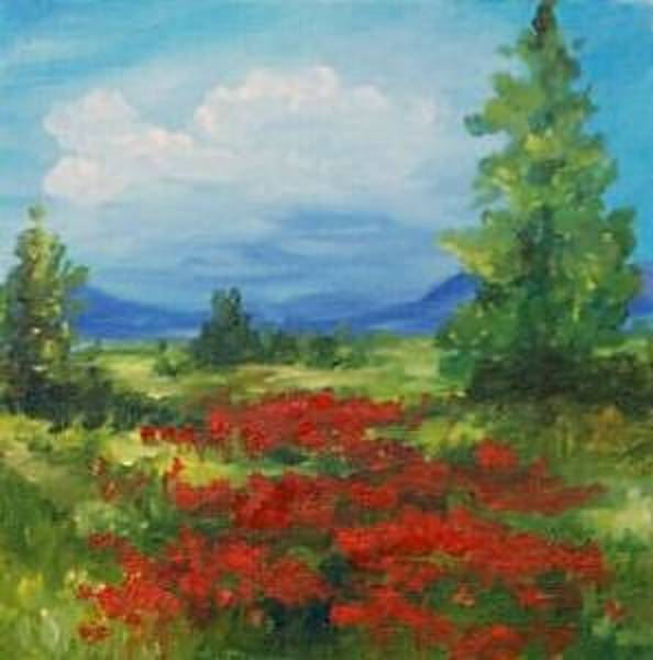 Flower Wall Art - Painting - Field Of Poppies 2007 - Sold by Torrie Smiley