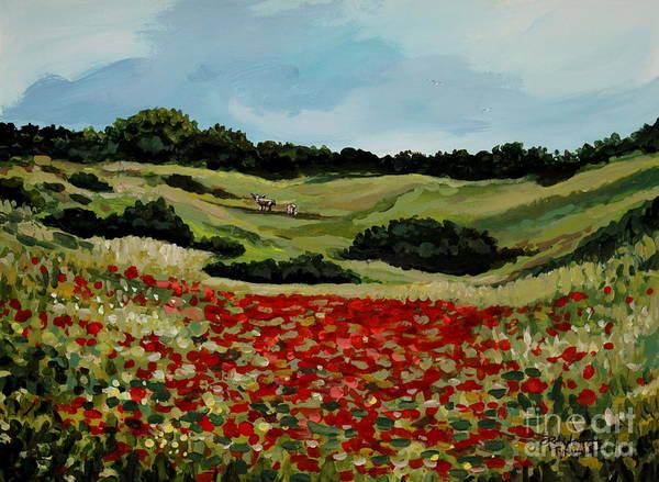 Painting - Field Of Poppies by Elizabeth Robinette Tyndall