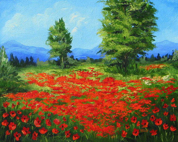 Wall Art - Painting - Field Of Poppies IIi by Torrie Smiley