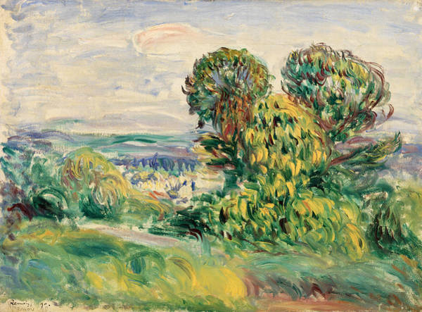 Wall Art - Painting - Field by Pierre-Auguste Renoir