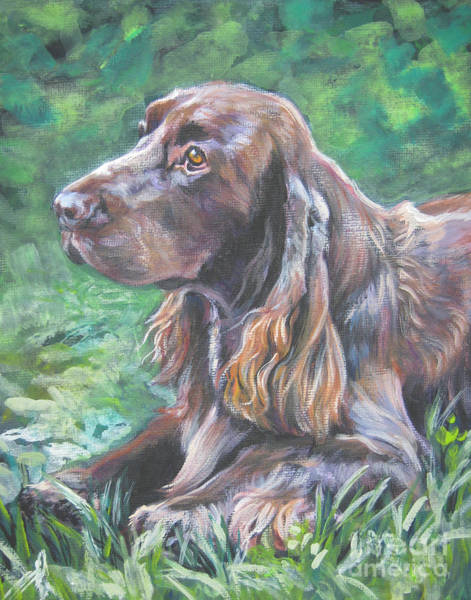 Field Spaniel Painting - Field Spaniel by Lee Ann Shepard