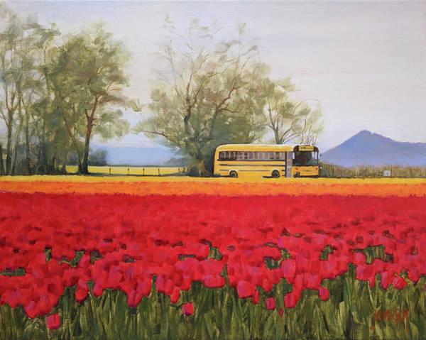 Skagit Valley Painting - Field Trip by Jennifer Ann McGill