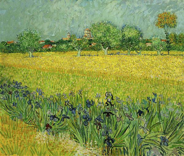 Wall Art - Painting - Field With Flowers Near Arles Van Gogh 1888 by Vincent Van Gogh