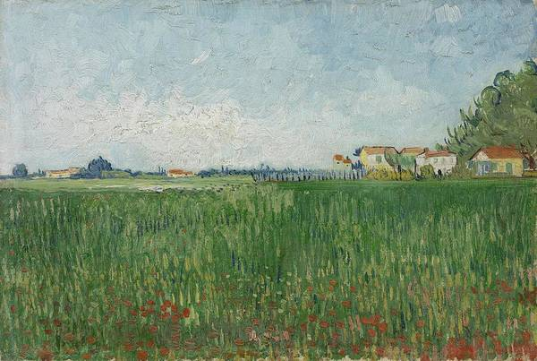 Painting - Field With Poppies Arles May 1888 Vincent Van Gogh 1853  1890 by Artistic Panda