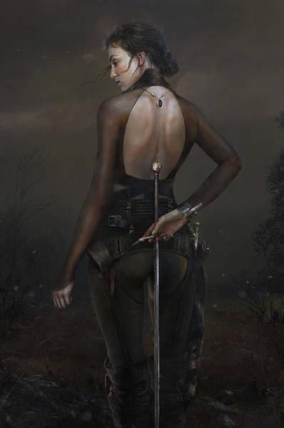 Sword Painting - Fields by Eve Ventrue