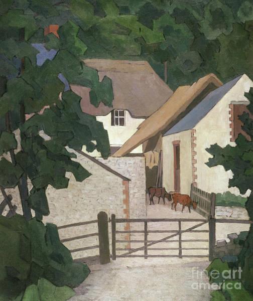 Wall Art - Painting - Field's Farm, Somerset by Robert Polhill Bevan
