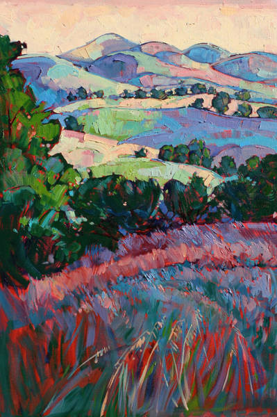 California Wine Country Painting - Fields Of Green by Erin Hanson
