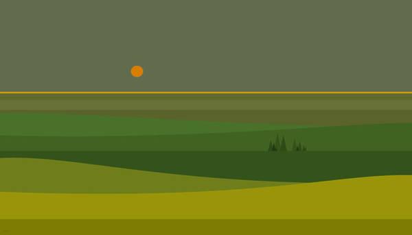 Wall Art - Digital Art - Fields Of Green by Val Arie