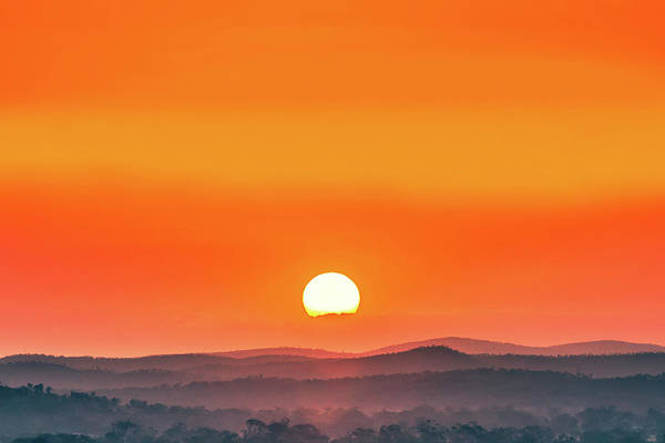 Sun Set Photograph - Fields Of Haze by Az Jackson