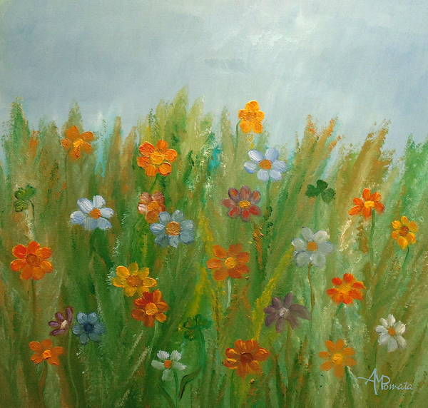 Painting - Fields Of Joy by Angeles M Pomata
