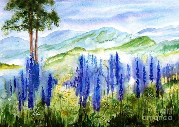 Painting - Fields Of Lupines by Diane Kirk