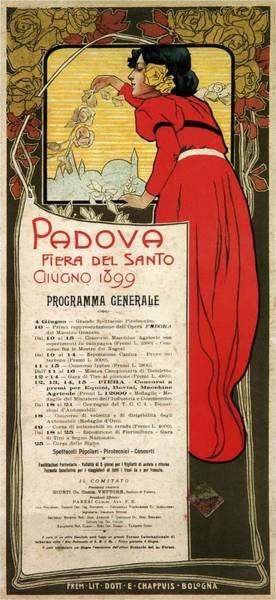 Catholic Mixed Media - Fiera Del Santo 1899, Padova, Italy - Fair Of The Saint - Retro Travel Poster - Vintage Poster by Studio Grafiikka