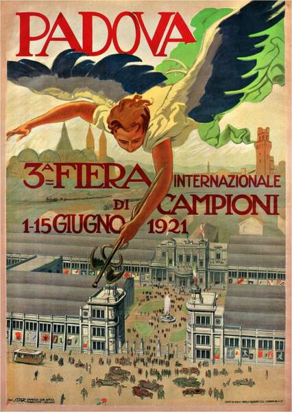 Championship Mixed Media - Fiera Internazionale Campioni, Padova, Italy - Retro Travel Poster - Vintage Poster by Studio Grafiikka