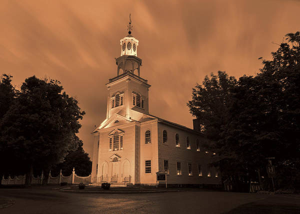 Protestant Photograph - Fierce Grace - First Church Bennington by Stephen Stookey