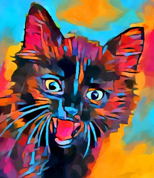 Wall Art - Painting - Fierce Kitty by Chris Butler