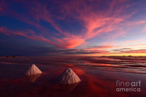 Photograph - Fiery Clouds Over The Salar De Uyuni by James Brunker