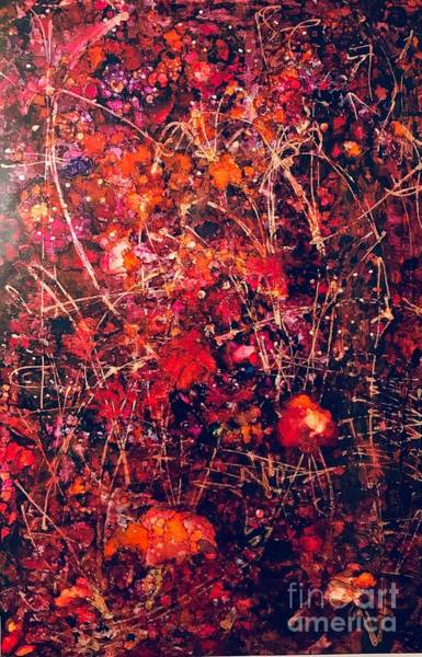 Painting - Fiery Crash by Holly Suzanne