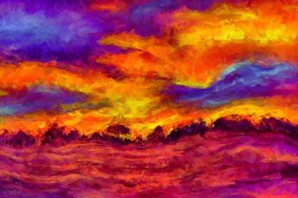 Digital Art - Fiery Dawn by Caito Junqueira