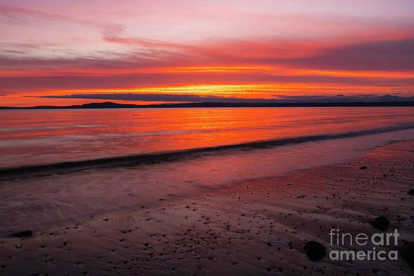 Wall Art - Photograph - Fiery Elliott Bay Sunset by Mike Reid