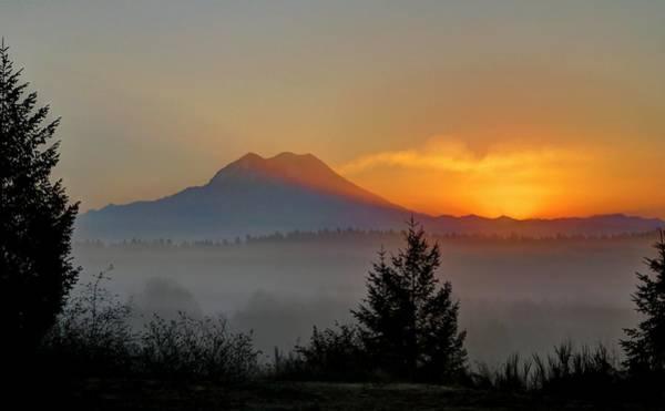 Wall Art - Photograph - Fiery Fall Sunrise by Peter Mooyman