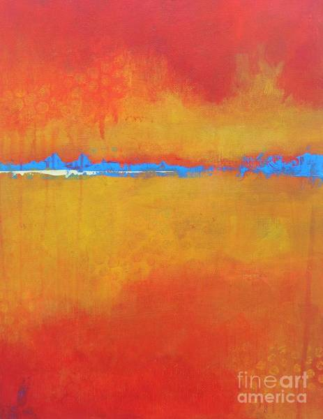 Wall Art - Painting - Fiery by Kate Marion Lapierre