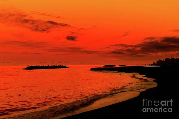 Wall Art - Photograph - Fiery Lake Sunset by Randy Steele