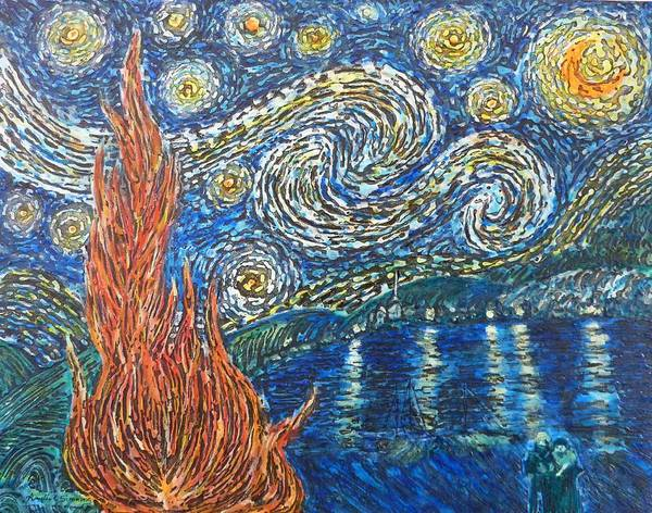 Painting - Fiery Night by Amelie Simmons